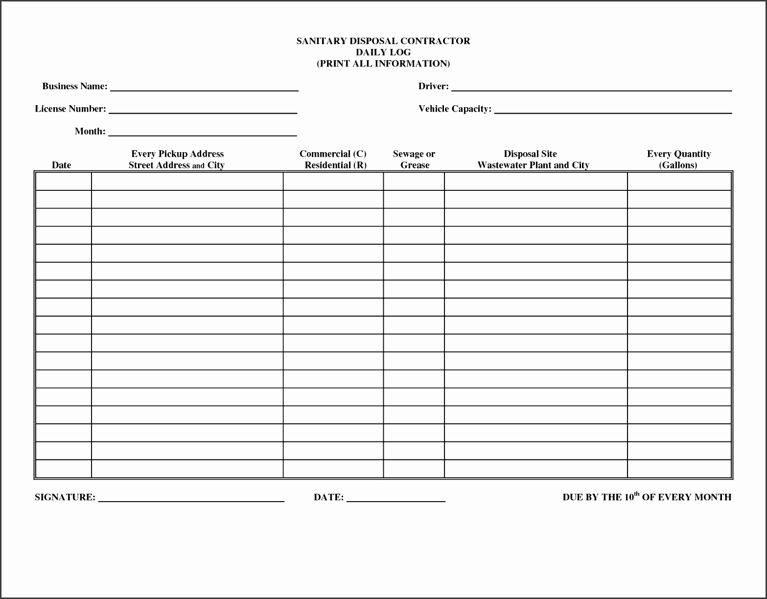 driving log template driving log template driving mileage log template driving log template free driving log