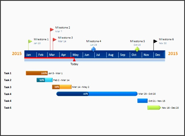 simple project timeline template free