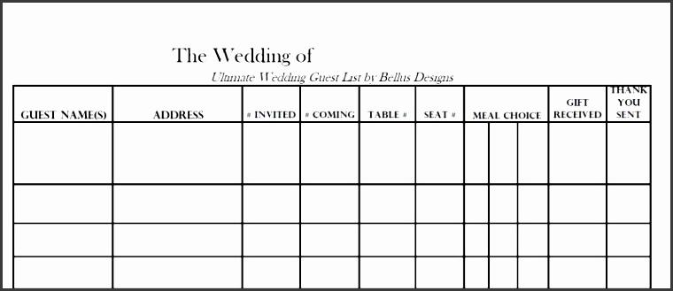 editable wedding guest list template