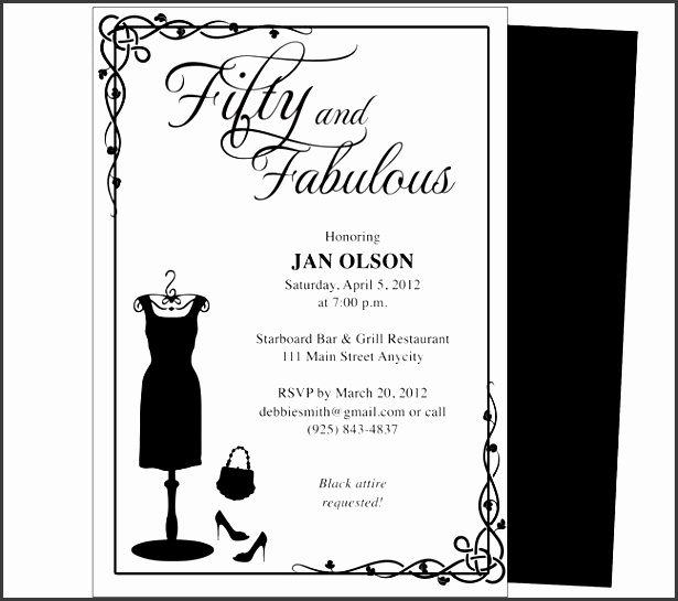 fifty 50th birthday invitation templates diy printable template and easy to edit in word publisher
