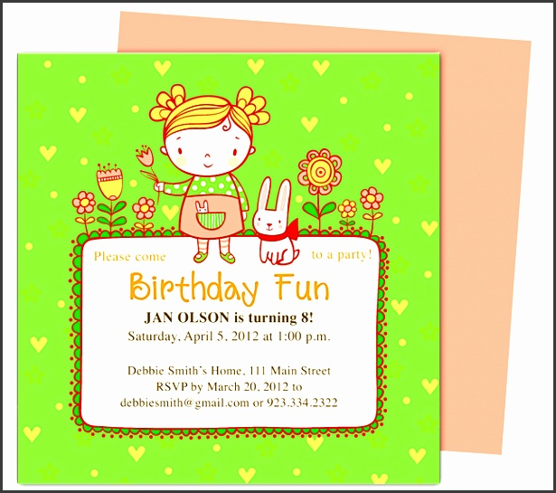 abby kids birthday party invitation templates perfect for a little girl s party edit with