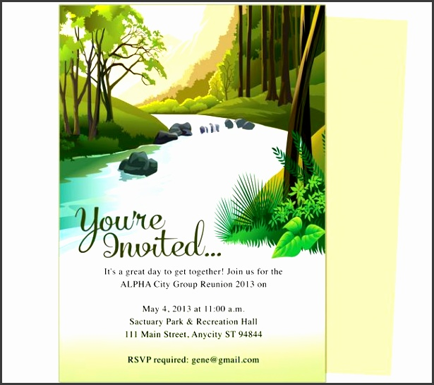 brook family or event reunion party invitation templates use with word openoffice publisher