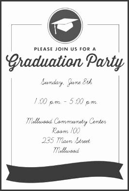 ribbon graduation printable invitation template customize add text and photos print