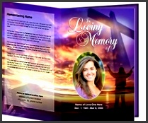 beautiful and easy to edit template for funeral program memorable funeral order service