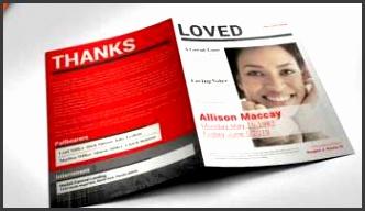 newspaper funeral program template 3