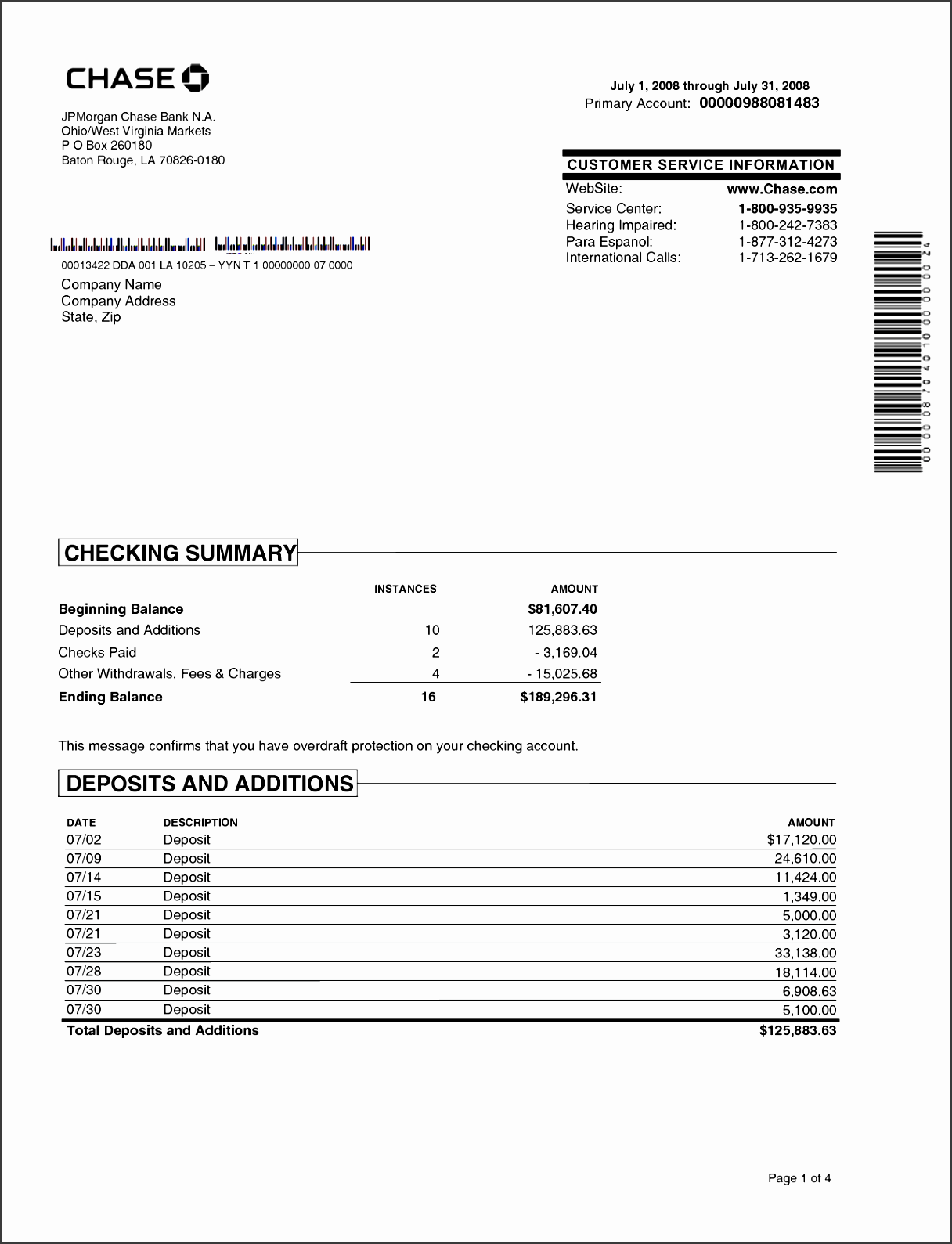 chase bank statement online template best template collection chase pinterest bank statement and banks