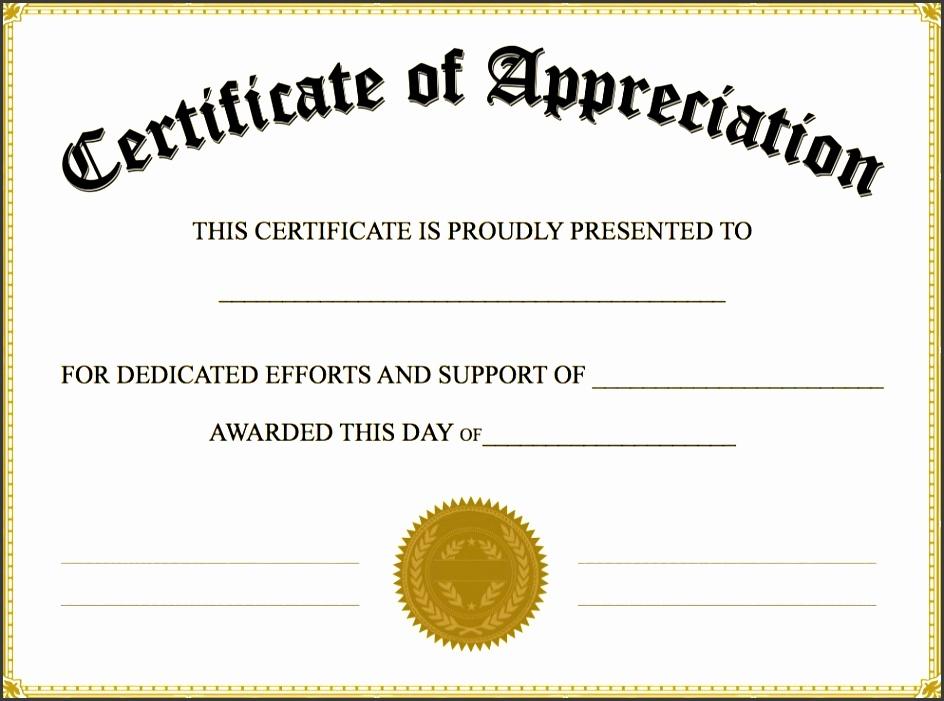 editable certificate of appreciation template certificate of appreciation templates pdf word calendar free