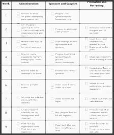 charity run event plan 9 week checklist