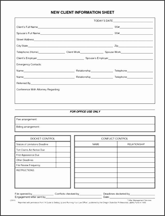 standard invoice template salon client information sheet fccla 3 h client invoice template template medium