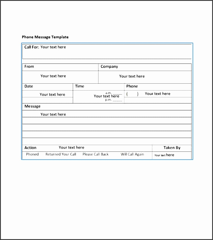 printable phone message template 15