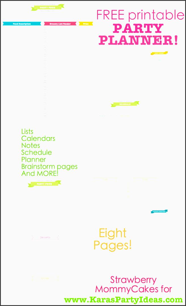 free printable party planner via kara s party ideas karaspartyidesa free printable