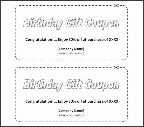homemade birthday coupon template easy