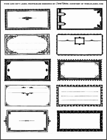 these vintage framed labels by cathe holden of justsomethingimad are free to printibles are in pdf editable templates several colors