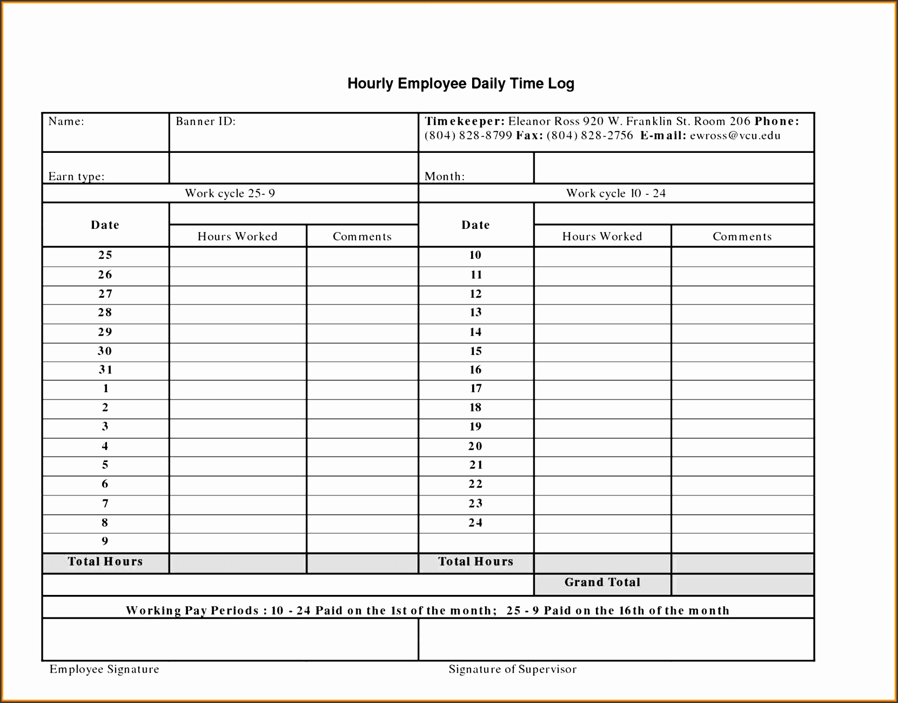 11 editable daily work schedule sampletemplatess for Building work schedule template