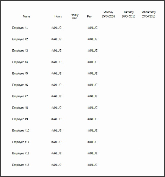 editable monthly staff work schedule template excel format