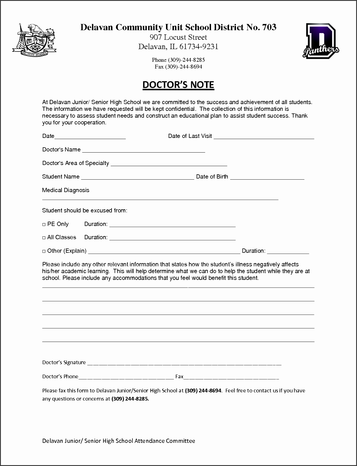 templates fake doctors note editable doctors note