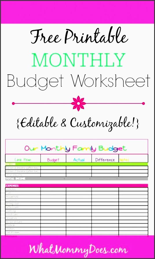 free monthly bud template cute design in excel monthly bud household in e and worksheets