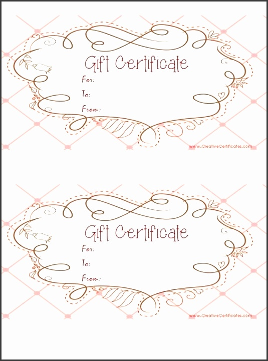 9 editable gift certificate template