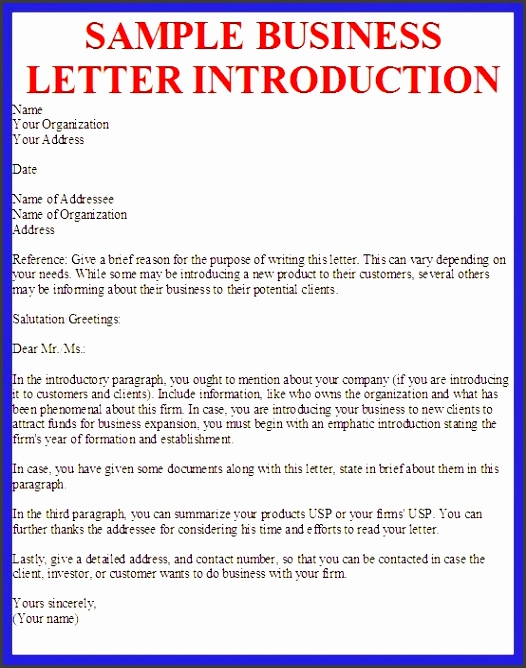 brilliant ideas of new business introduction letter sample in brilliant ideas of new business introduction letter