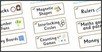 red kite themed editable maths area resource labels
