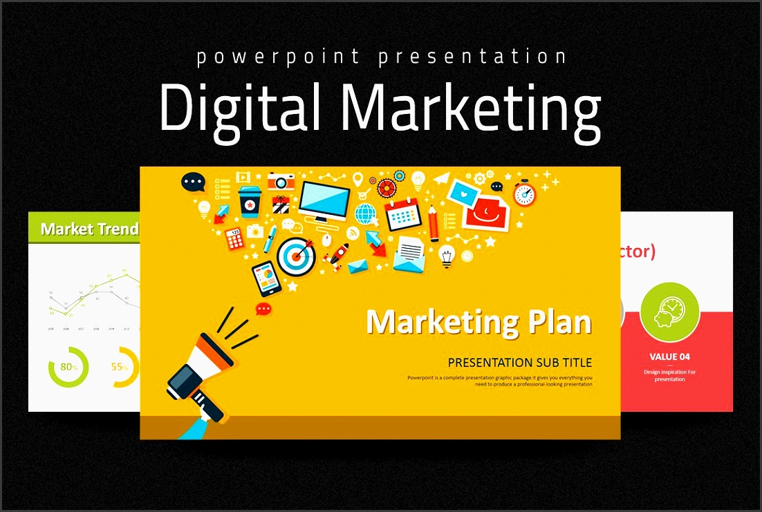 digital marketing strategy ppt presentation templates creative market