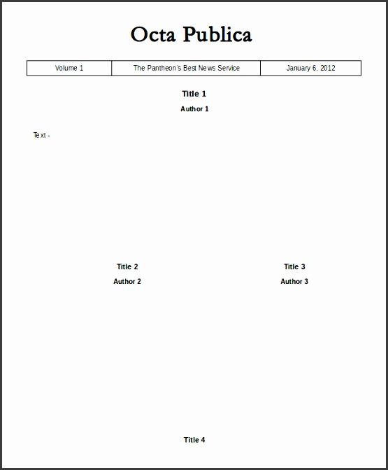 octa publica blank news paper template google doc
