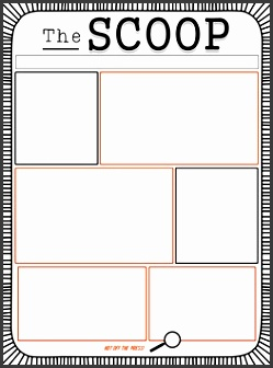 the scoop editable student newspaper template