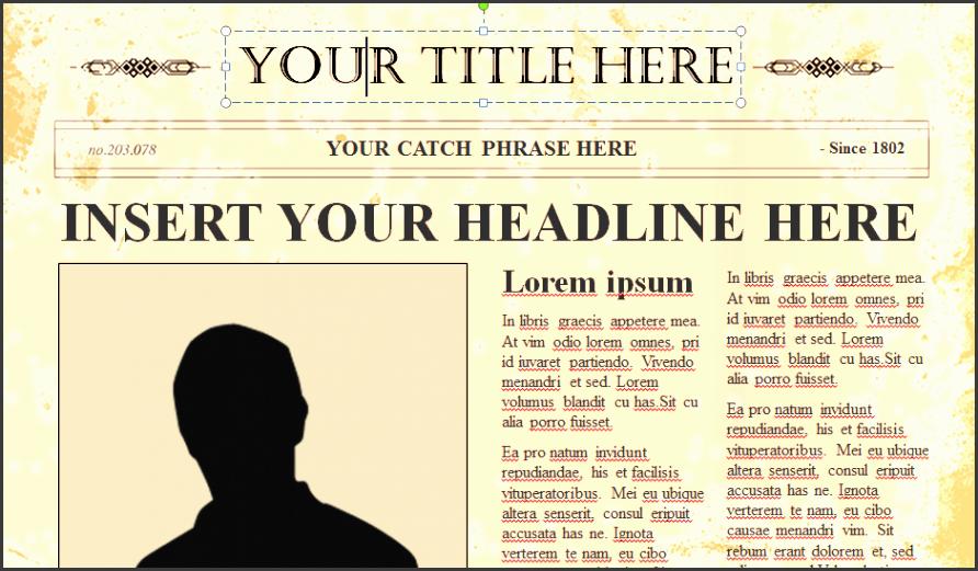 catchphrase powerpoint catchphrase powerpoint template newspaper creators litology and