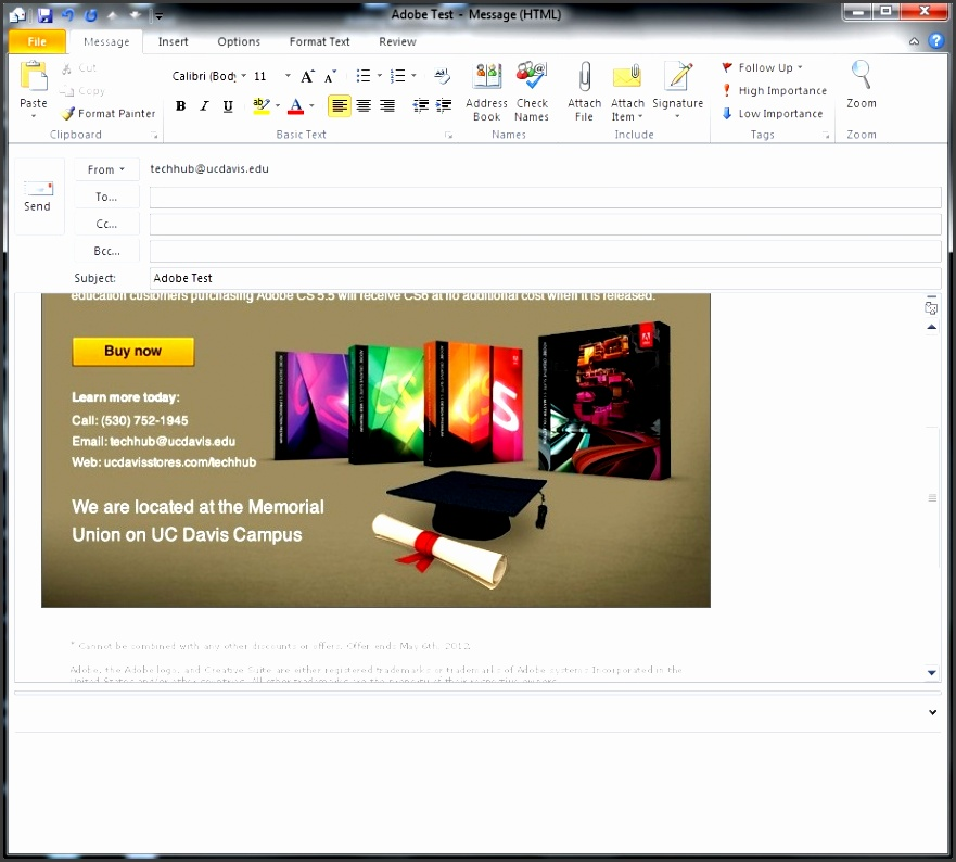 send e mail in outlook 2010 005