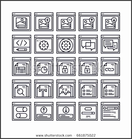 set of web browser and interface outline icon design all icon designed on 64x64 pixel