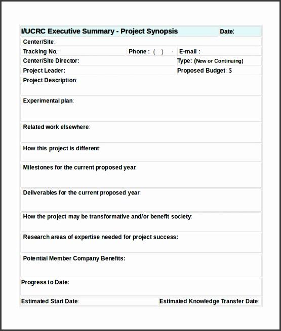 editable executive summary form template sample word format