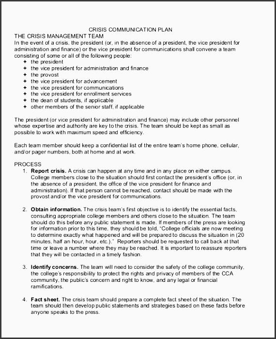 crisis management munication plan