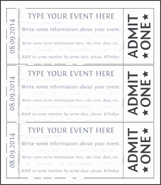 10 editable raffle ticket template