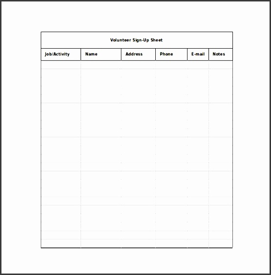 email sign up sheet templates free sign up sheet templates sign up sheet templates
