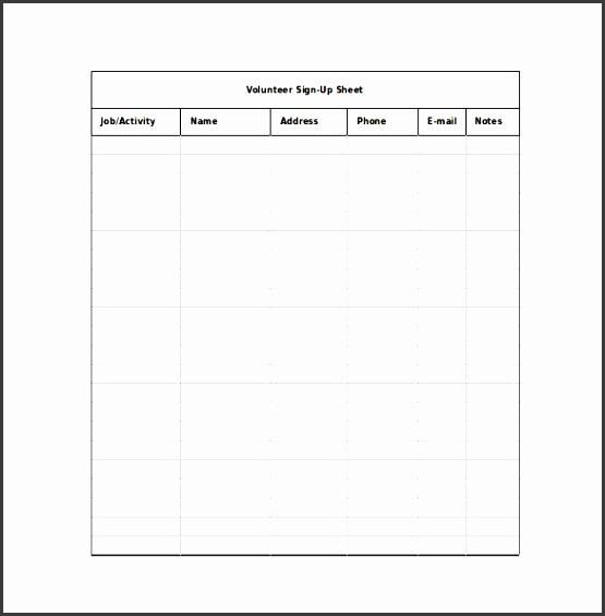 Printable Sign Up Sheet Maker: 6 Editable Sign Up Sheet Template