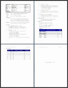 standard operating procedure sop template