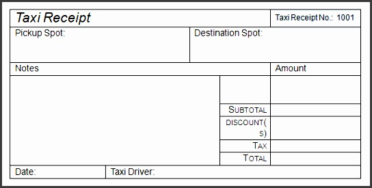 taxi invoice template taxi receipt template 17 free for word pdf ideas