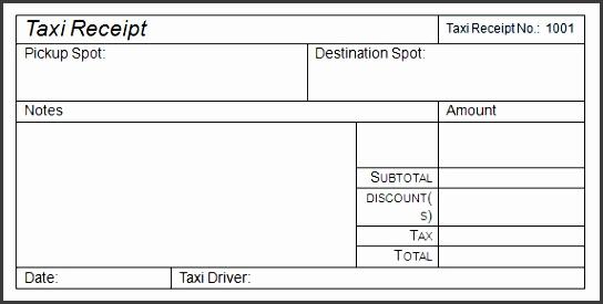 6  editable taxi receipt - sampletemplatess