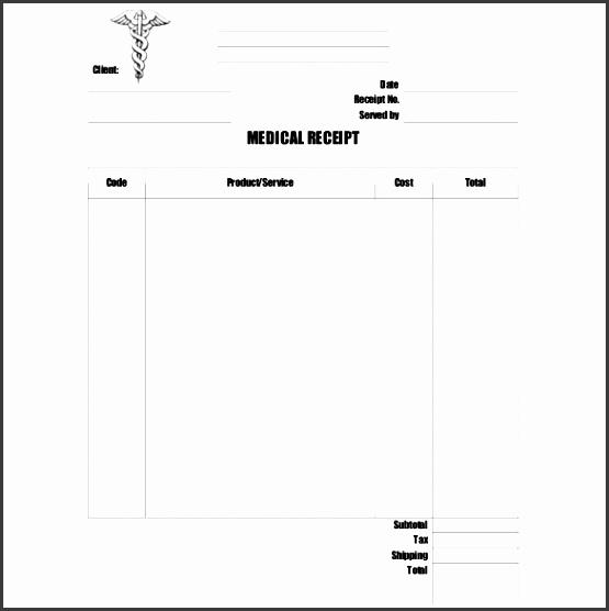 doctor medical receipt free pdf format
