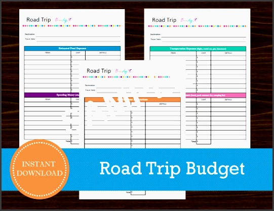 road trip bud sheet travel planner vacation planner road trip planner printable and editable instant pdf 3 pages