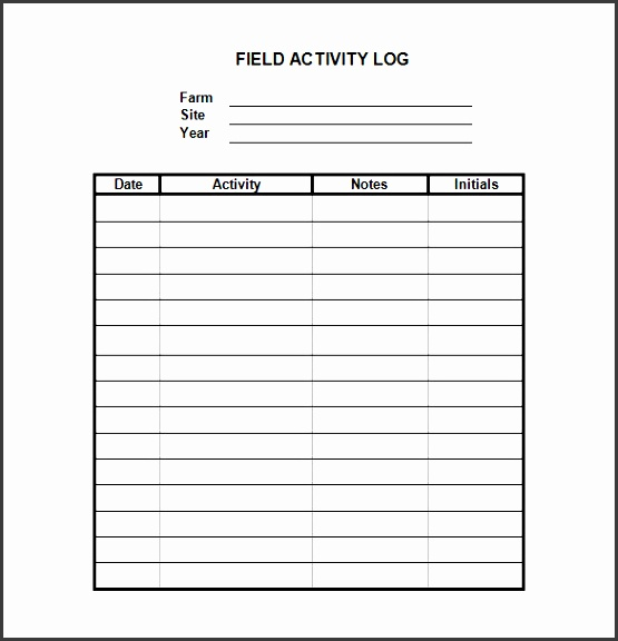 10 editable work log template - sampletemplatess