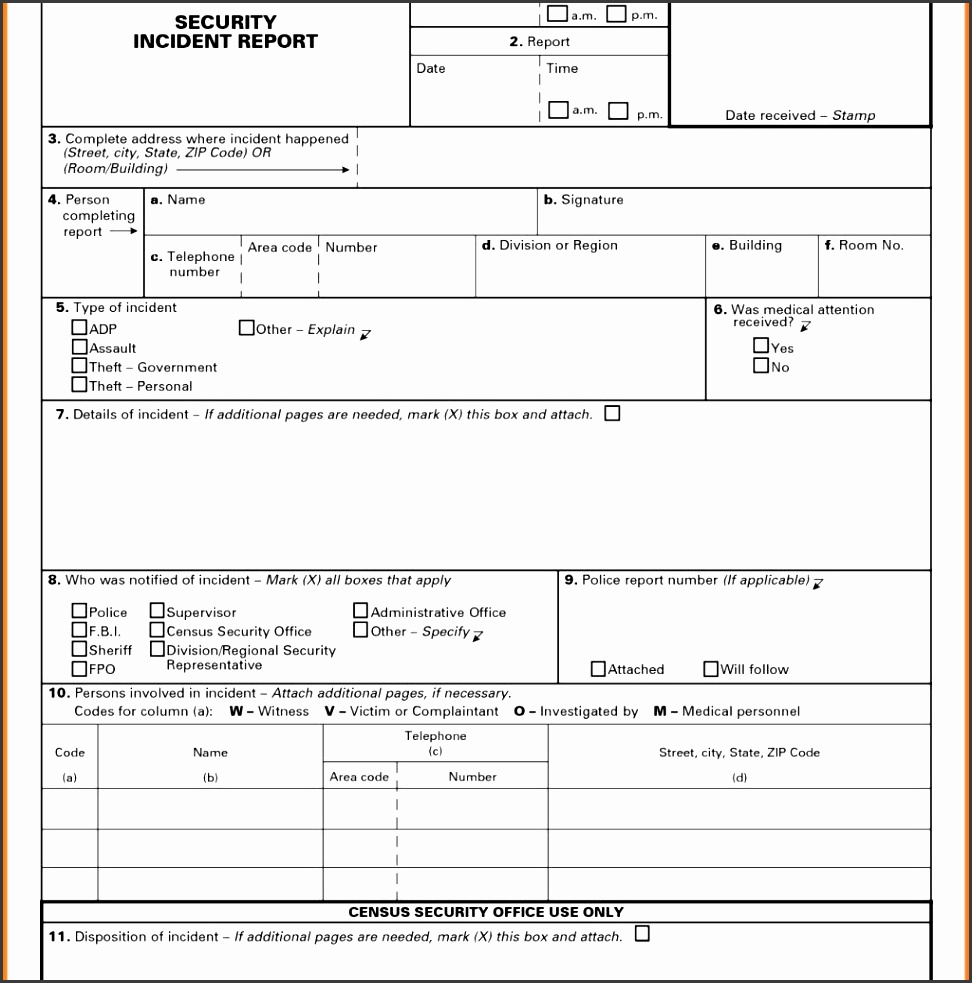 construction injury report template and employee incident report