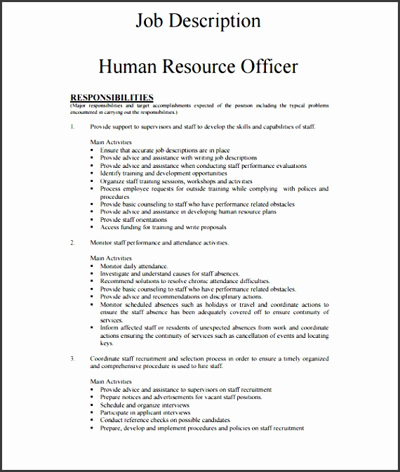7 Employee Job Description Template Sampletemplatess