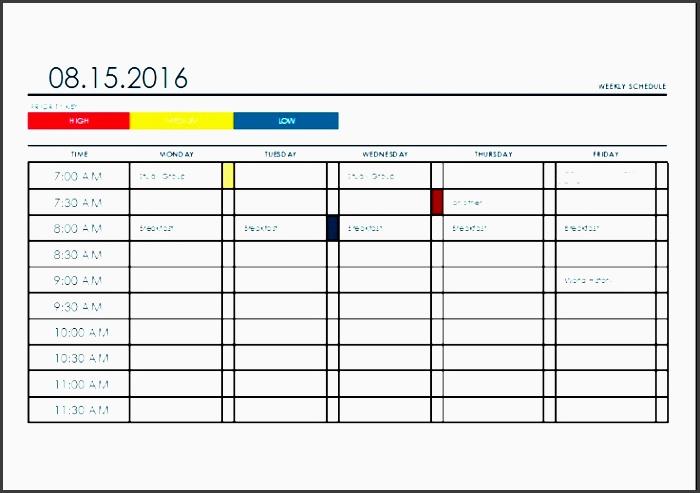 weekly time planner ehuuk luxury ms excel weekly college tasks schedule template