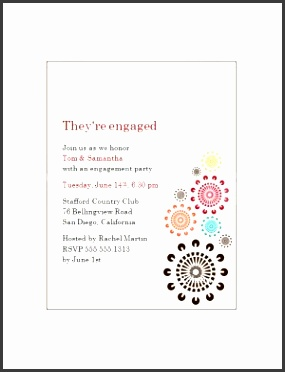 multicolor bursts engagement party invitations