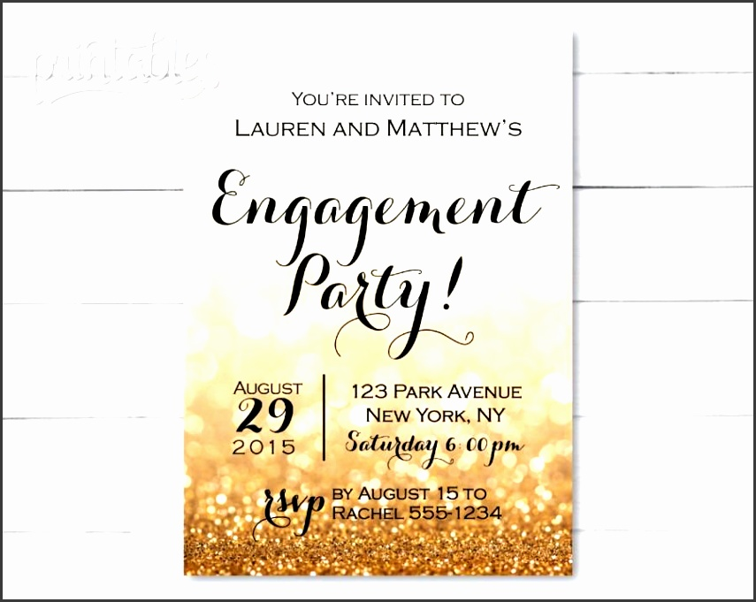 engagement party invitation printable black and gold engagement invitation template sparkle engagement invites glitter engagement invite