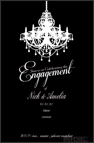 engagement invitations evening glitz engagement invitation templateparty