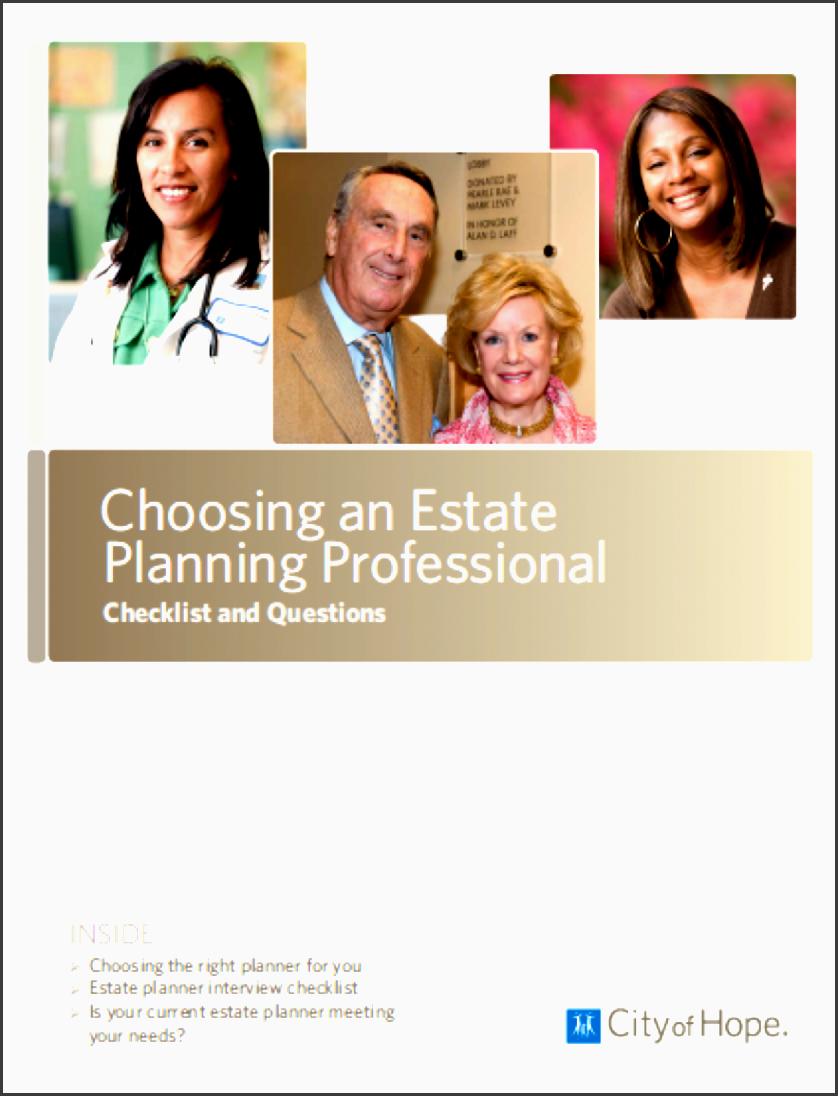 choosing estate planning professional