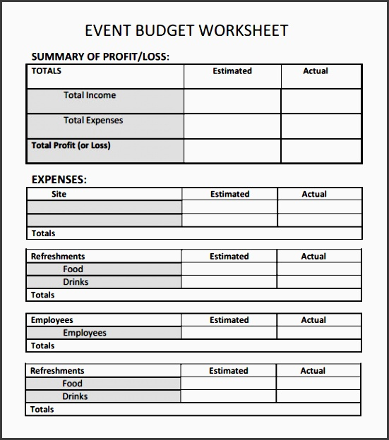 sample event bud template 6 free documents in word pdf