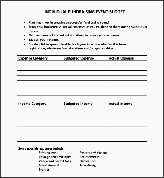 fundraising event bud template